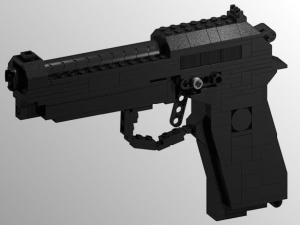 brick gun 9mm lego gun 01 BrickGun Lego Guns Shoot Nothing, Look Awesome