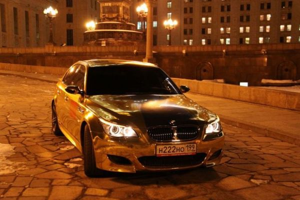 gold plated bmw m5 05 Gold Plated BMW M5