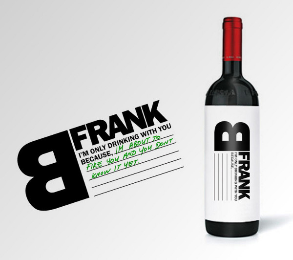 Wine Label Design b-frank-wine