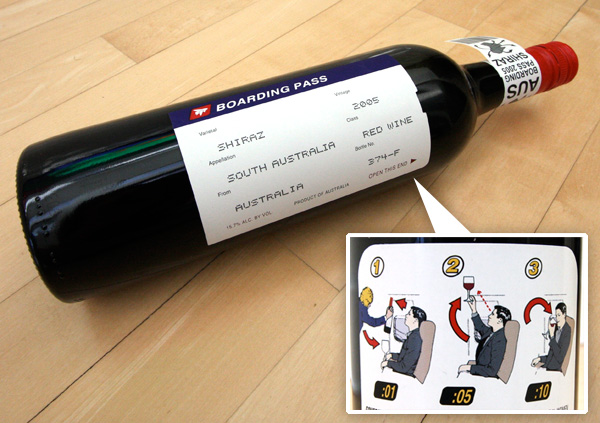 boarding bass shiraz 1 30 Creative and Unusual Wine Label Designs