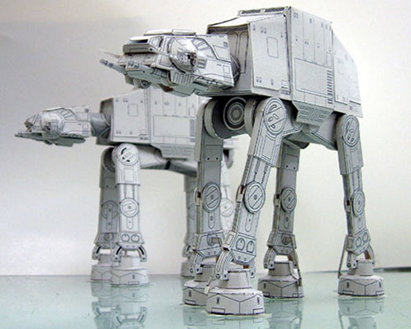 star wars papercraft at at Papercraft Perfection: 10 Amazing Master Origami Artists