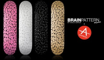 brain pattern skateboard decks 1 345x200 Brain Pattern Skateboard Deck by Emilio Garcia