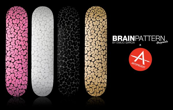 brain pattern skateboard decks 1 Brain Pattern Skateboard Deck by Emilio Garcia