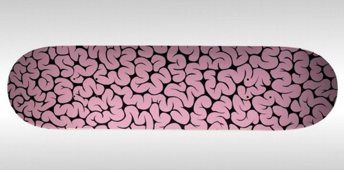 Brain Pattern Skateboard Deck by Emilio Garcia