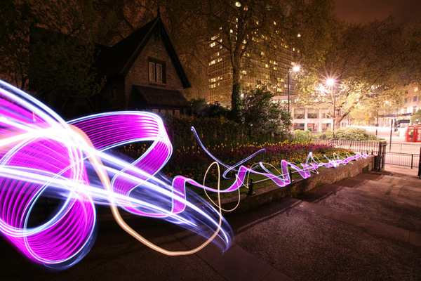 lichtfaktor light painting land securities 4 London Light Graffiti by Lichtfaktor