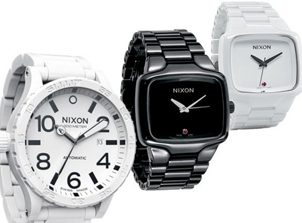 nixon ceramic elite collection 1 Nixon Fall 2009 Elite Ceramic Collection