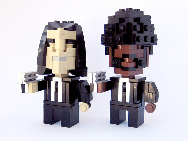 cube dudes vincent and jules 1 CubeDude Lego Icons: from Vader to Robocop