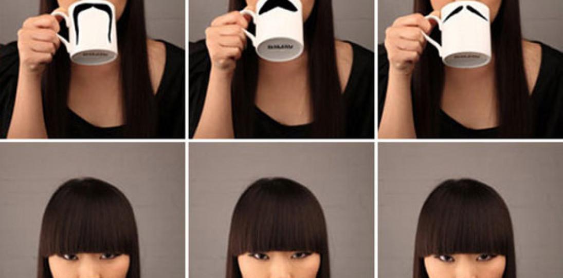 Moustache Mug by Peter Bruegger