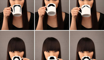 Moustache Mug by Peter Bruegger