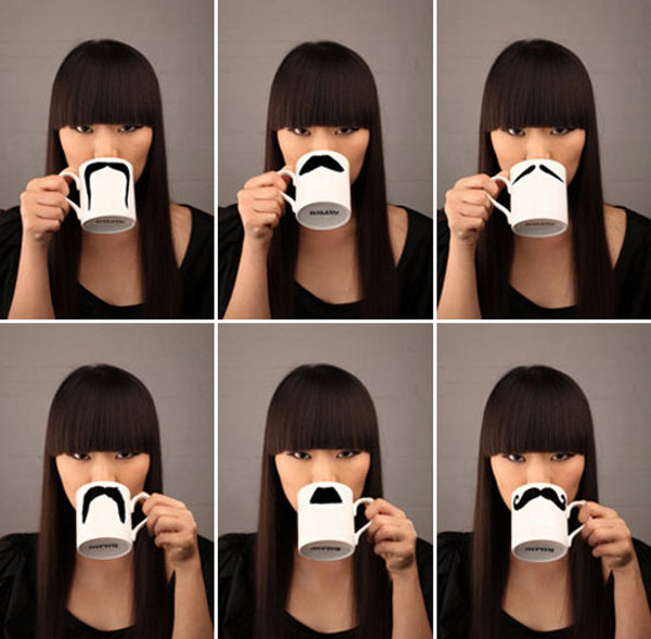 moustache mugs by peter bruegger 6 Moustache Mug by Peter Bruegger
