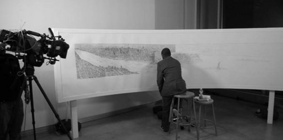 Autistic Artist Draws the Manhattan Skyline from Memory