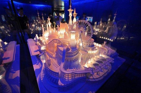 castle on the ocean by Wataru Itou 1 Castle on the Ocean Papercraft by Wataru Itou
