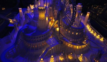 Castle on the Ocean Papercraft by Wataru Itou