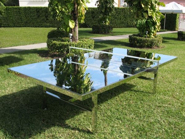 chrome ping pong table 2 Chrome Ping Pong Table by Rirkrit Tiravanija