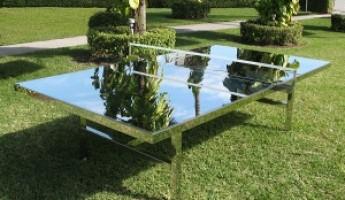 Chrome Ping Pong Table by Rirkrit Tiravanija
