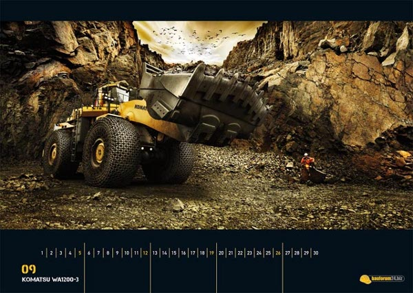 heavy equipment calendar 2010 9 2010 Heavy Equipment Calendar