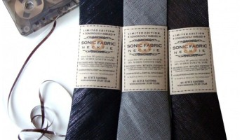 sonic fabric cassette neckties 1 345x200 Sonic Fabric Cassette Tape Necktie