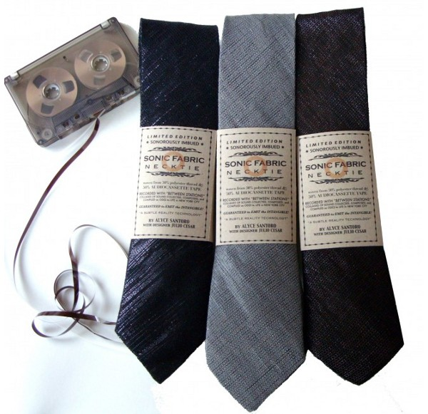 sonic fabric cassette neckties 1 Sonic Fabric Cassette Tape Necktie