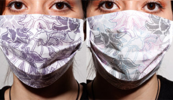Thermocromic Flu Masks by Marjan Kooroshnia