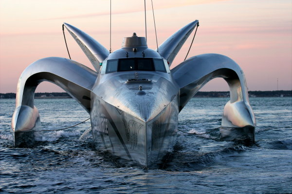 earthrace biodiesel powerboat 1 EarthRace Super Yacht DESTROYED By Whaling Vessel