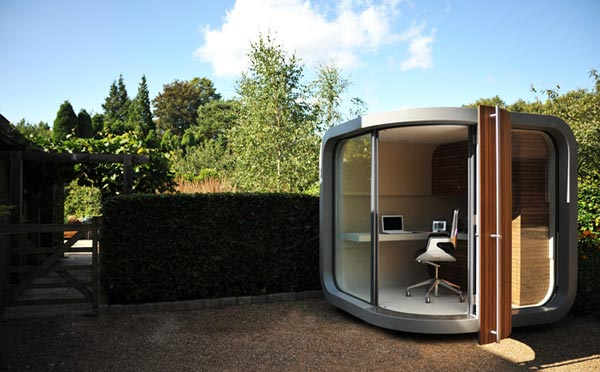 Office pods Indoor Thecoolist Officepod The Prefab Home Office