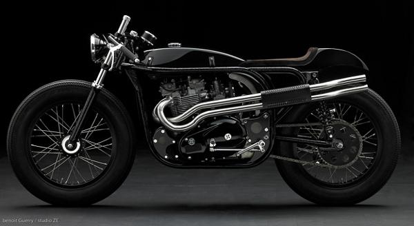 triton custom motorcycle by daniel delfour 1 Amazing Triton Custom Bike by Daniel Delfour