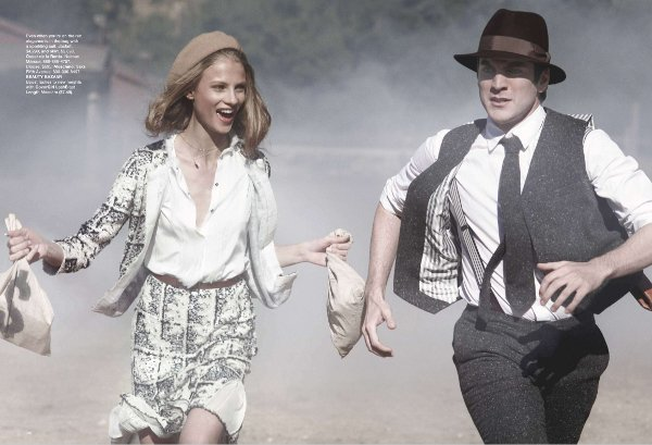 bonnie and clyde anna selezneva and wes bentley 2 Bonnie and Clyde by Peter Lindbergh
