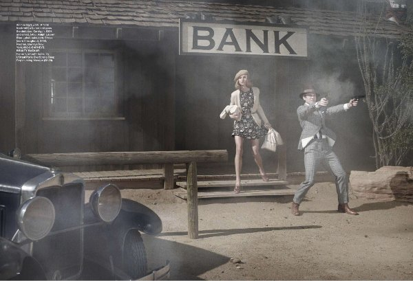 bonnie and clyde anna selezneva and wes bentley 3 Bonnie and Clyde by Peter Lindbergh