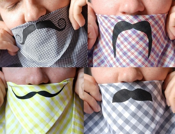 moustache handkerchief by avril loreti 1 Moustache Culture: 10 Creative Moustache Obsessed Products
