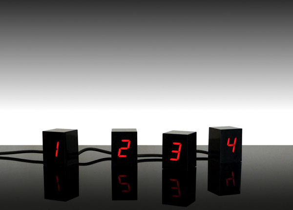 numbers led clock jonas damon 1 Creative Clocks: 10 Amazing Examples of Modern Clockwork