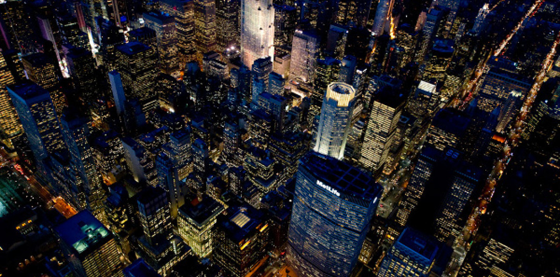 NYC At Night by Jason Hawkes