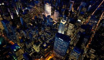NYC At Night by Jason Hawkes