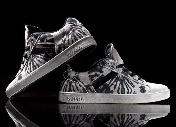 supra bullet white tie dye sneakers 1 Supra Bullet White Tie Dye Sneakers