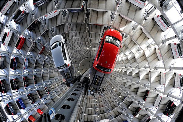 Autostadt Automated Parking Garage Towers 2 Auto Erotica: 10 Incredible Parking Garage Designs