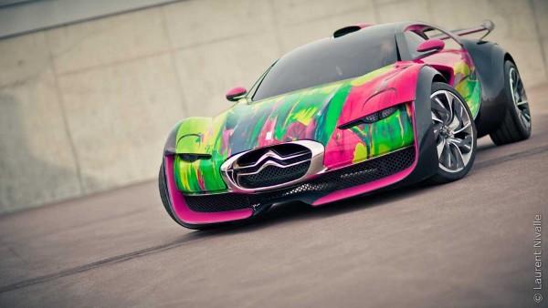 Citroen Survolt Art Car by Francoise Nielly 1 Citroen Survolt Art Car by Francoise Nielly
