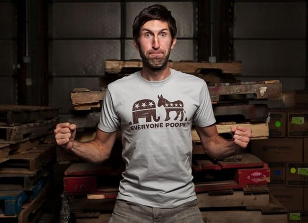 Everyone Poops T-Shirt by Chris Lee Jones