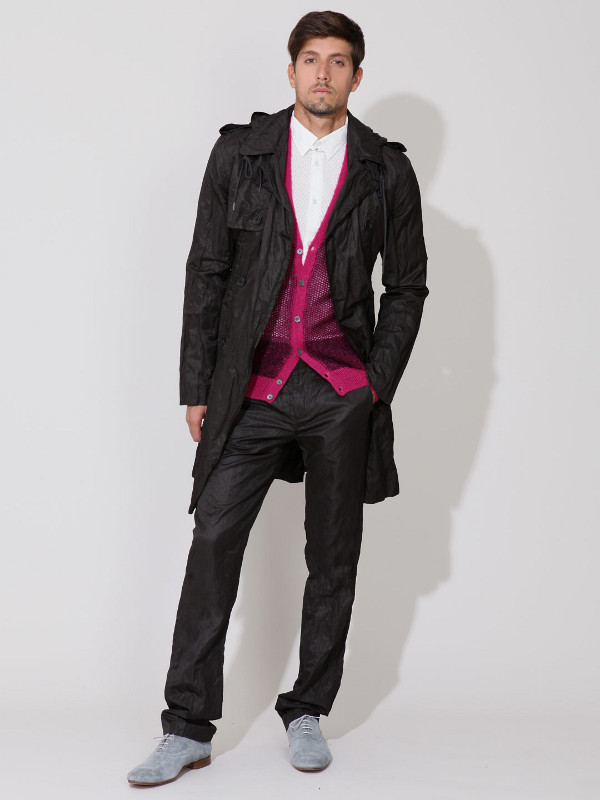 Marc Jacobs Twill Crinkled Coat