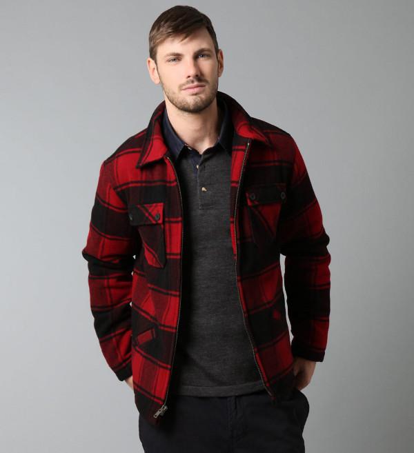 Wool Plaid Hunting Jacket