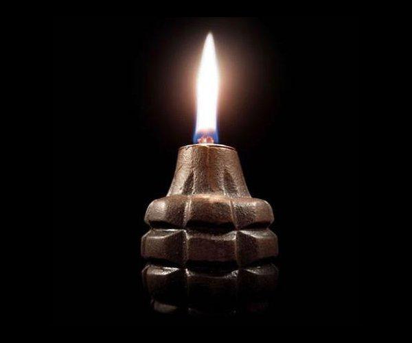 Hand Grenade Oil Lamps 1