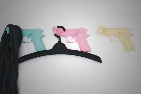 Pistol Coat Hooks 2