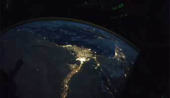 The Nile River at Night from the International Space Station