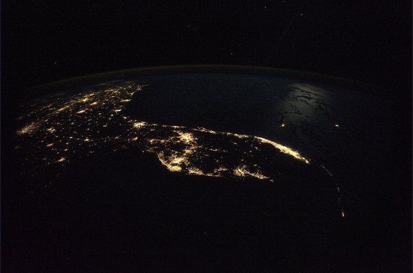 A view of Florida from the International Space Station.