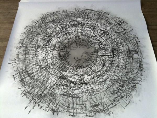 Tony Orrico Performance Drawing 4