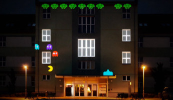 8-Bit Invader Projection Mapping by Pavel Novák