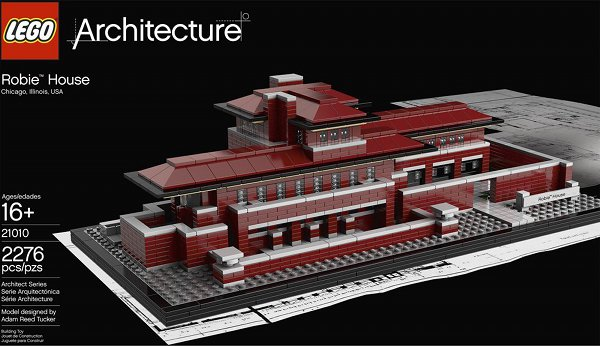 Frank Lloyd Wright Lego Robie House 1 Frank Lloyd Wright Lego Robie House