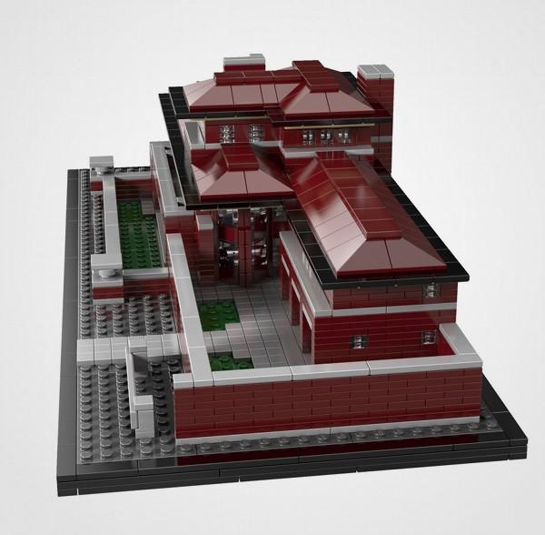 Frank Lloyd Wright Lego Robie House 3 Frank Lloyd Wright Lego Robie House