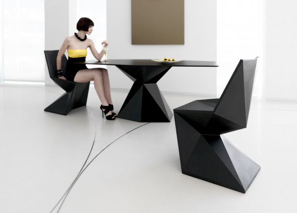 VONDOM Vertex Chair by Karim Rashid 1 Faceted Design: 10 Crystalline Creations of Future Design