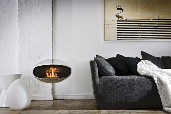 Cocoon Fireplace by Federico Otero 2