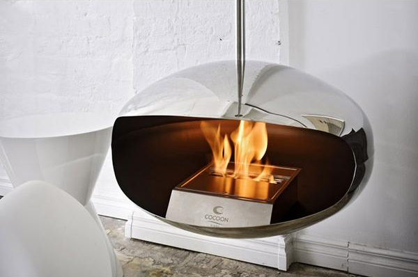 Cocoon Fireplace by Federico Otero 3