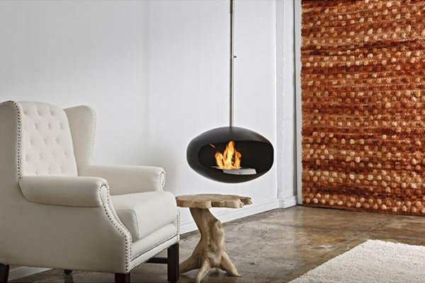 Cocoon Fireplace by Federico Otero 6